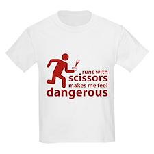 Runs with scissors makes me feel dangerous T-Shirt