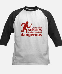 Runs with scissors makes me feel dangerous Tee