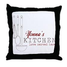 Nonna's Kitchen Throw Pillow