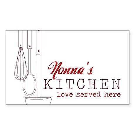 Nonna's Kitchen Sticker (Rectangle)