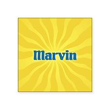"Marvin Sunburst Square Sticker 3"" x 3"""