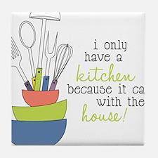 A Kitchen Tile Coaster