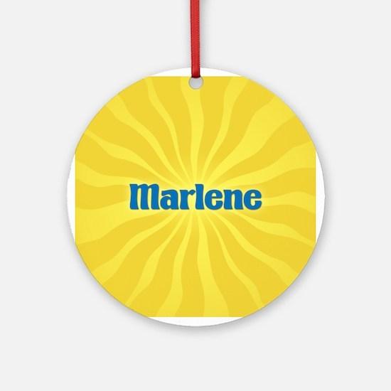 Marlene Sunburst Ornament (Round)