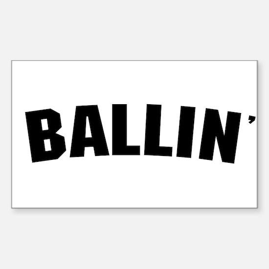 Ballin' Rectangle Decal