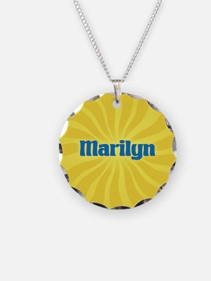 Marilyn Sunburst Necklace Circle Charm