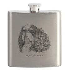 English Toy Spaniel Flask