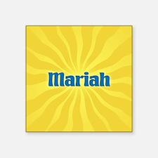 "Mariah Sunburst Square Sticker 3"" x 3"""