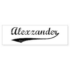 Vintage: Alexzander Bumper Bumper Bumper Sticker