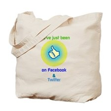 liked on facebook & twitter Tote Bag