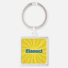 Manuel Sunburst Square Keychain