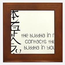 Buddha In Me Framed Tile