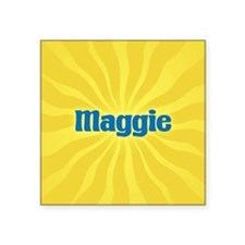 "Maggie Sunburst Square Sticker 3"" x 3"""