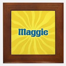 Maggie Sunburst Framed Tile