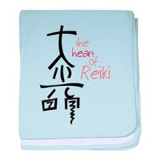 The Heart Of Reiki baby blanket