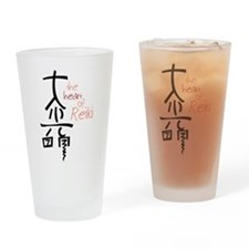 The Heart Of Reiki Drinking Glass