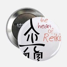 "The Heart Of Reiki 2.25"" Button"