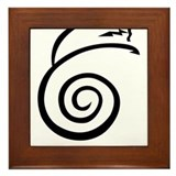 Reiki symbol Framed Tiles