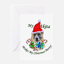 Akita Christmas Greeting Card