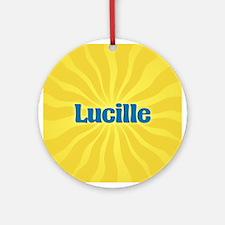 Lucille Sunburst Ornament (Round)