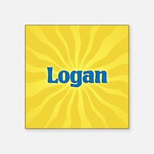 "Logan Sunburst Square Sticker 3"" x 3"""
