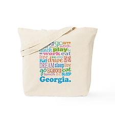 live dream Georgia Tote Bag