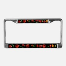Chili Peppers Black License Plate Frame