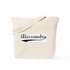 Vintage: Alessandro Tote Bag