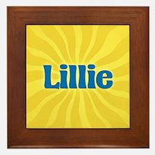 Lillie Sunburst Framed Tile