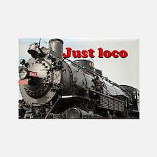 Just loco: steam train Arizona, USA Rectangle Magn