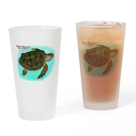 Kemp's Ridley Sea Turtle Drinking Glass