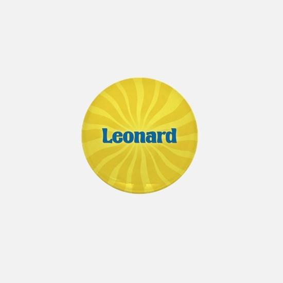 Leonard Sunburst Mini Button