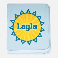 Layla Sunburst baby blanket