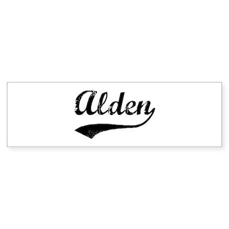 Vintage: Alden Bumper Sticker