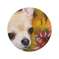 """dog 85.jpg 3.5"""" Button"""