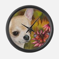 dog 85.jpg Large Wall Clock