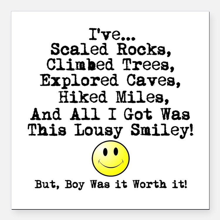 """Lousy Smiley Square Car Magnet 3"""" x 3"""""""