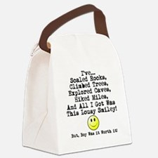 Lousy Smiley Canvas Lunch Bag