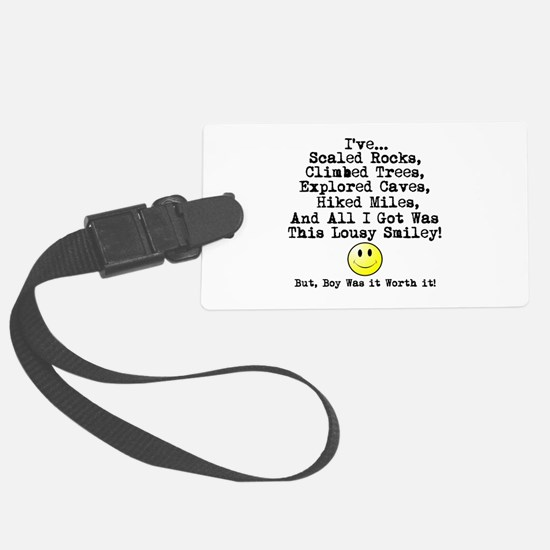 Lousy Smiley Luggage Tag