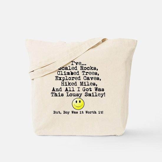 Lousy Smiley Tote Bag