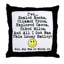 Lousy Smiley Throw Pillow