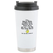 Lousy Smiley Travel Coffee Mug