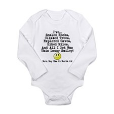 Lousy Smiley Long Sleeve Infant Bodysuit