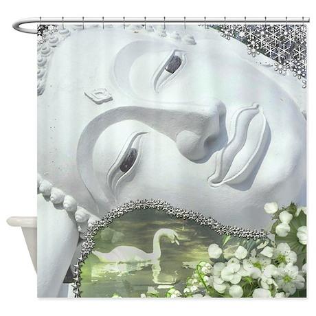 In the Garden - Quan Yin Shower Curtain