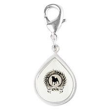 Obey The Pug Silver Teardrop Charm