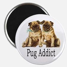 """Pug Addict 2.25"""" Magnet (10 pack)"""