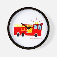 Wee Fire Truck! Wall Clock