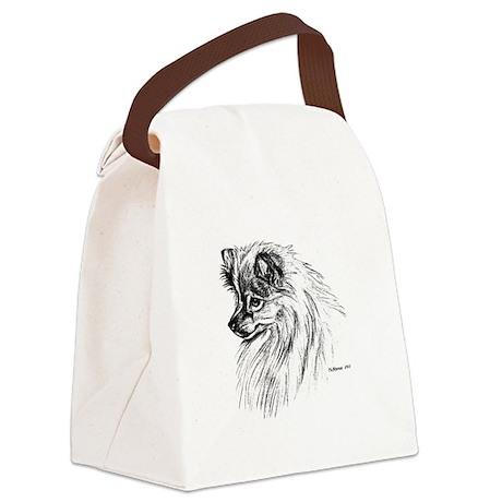 Pomeranian Canvas Lunch Bag