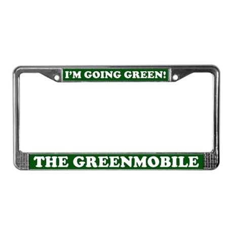 THE GREENMOBILE License Plate Frame