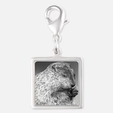Punxsutawney Phil pillow Silver Square Charm