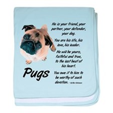 Pug Your Friend baby blanket